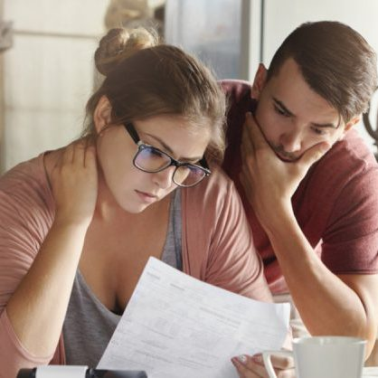 Young Couple with Debt Problems